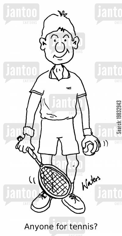 tennis game cartoon humor: Anyone for tennis?