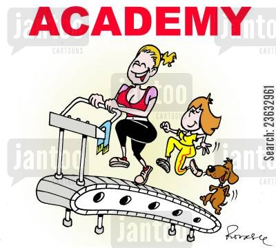 treadmill cartoon humor: Academy.