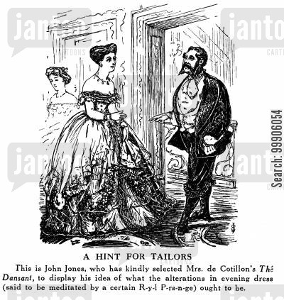 victorian fashion cartoon humor: A Hint for Tailors - The British Abroad
