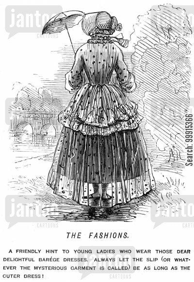lace cartoon humor: The Fashions