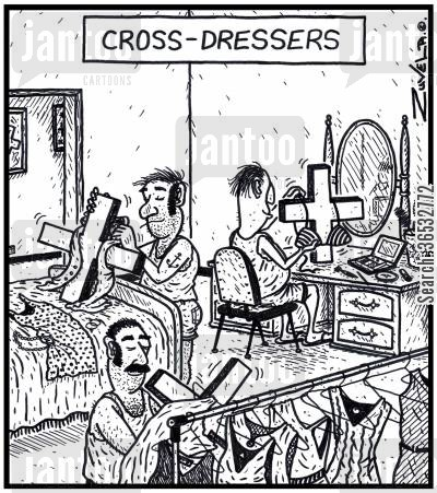 transvestite cartoon humor: Cross-Dressers.