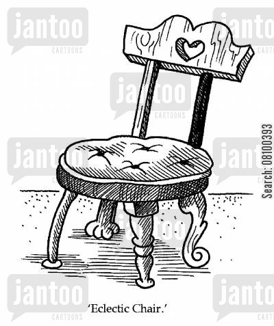 eclecticism cartoon humor: Eclectic Chair