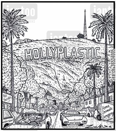 superficial cartoon humor: HOLLYPLASTIC