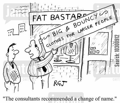 image consultant cartoon humor: The image consultant recommended a change of name