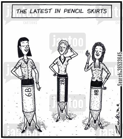 tight skirt cartoon humor: The Latest in Pencil Skirts,