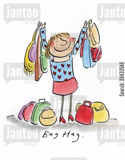 harvey cartoon humor: Bag Hag