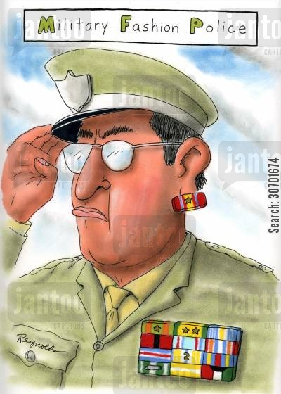 badge of honor cartoon humor: Military Fashion Police.