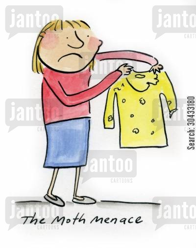 menace cartoon humor: The Moth Menace.