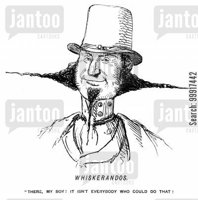 sideburns cartoon humor: Whiskerandos.