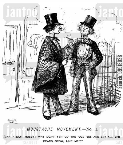 swells cartoon humor: Moustache movement. - No. I