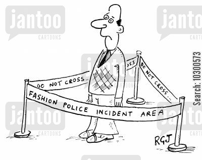 fashion police cartoon humor: 'Fashion Police Incident Area'