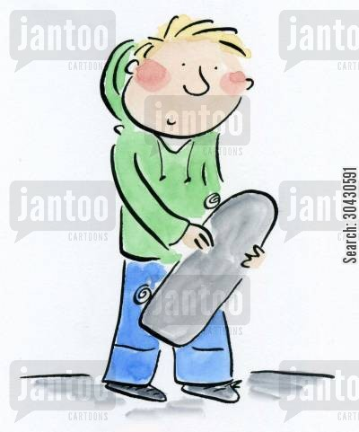 junkie cartoon humor: Skater dude.