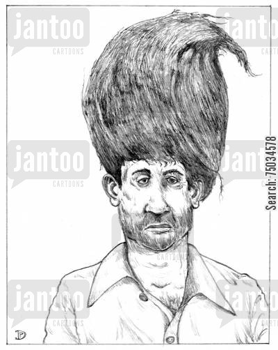 coiffure cartoon humor: Barely Detectable Toupee