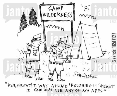 camped cartoon humor: Camp Wilderness.