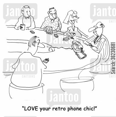 sophisticated cartoon humor: LOVE your retro phone chic!