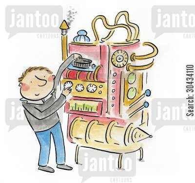 motors cartoon humor: Machine