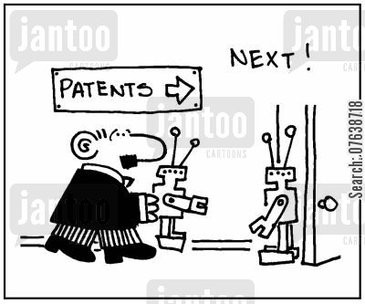 patents office cartoon humor: 'Next.'