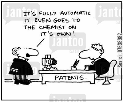 automatics cartoon humor: 'It's fully automatic. It even goes to the chemist on its own.'