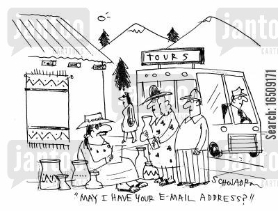 email address cartoon humor: 'May I have your email address?'