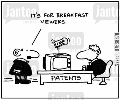 breakfast shows cartoon humor: 'It's for breakfast viewers.'