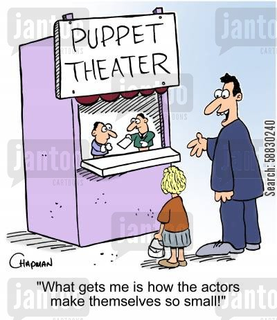 tv programme cartoon humor: 'What gets me is how the actors make themselves so small!'