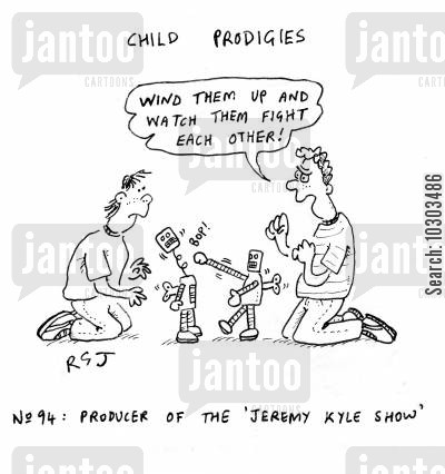 tv producers cartoon humor: Child Prodigies: Producer of the Jeremy Kyle Show.