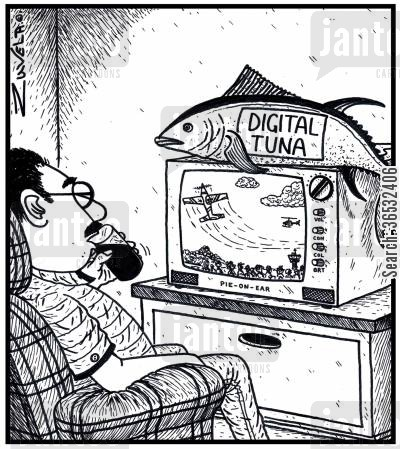 tuna cartoon humor: Digital Tuna.