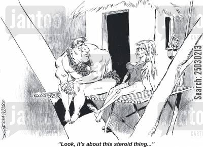 jane cartoon humor: 'Look, it's about this steroid thing...'