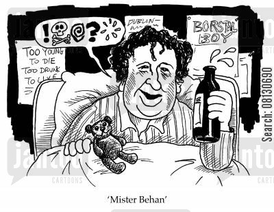 brendan behan cartoon humor: Mister Behan.