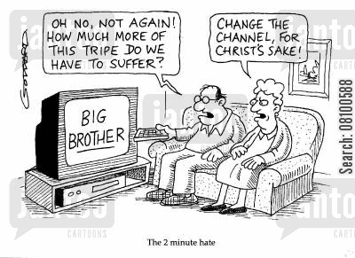 channel 4 cartoon humor: 'The 2 minute hate.'