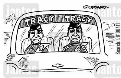 sticker cartoon humor: Tracy Tracy