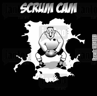 rugby games cartoon humor: Scrum Cam