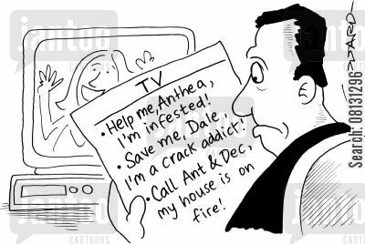 dale cartoon humor: TV schedules.