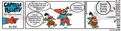 hangouts cartoon humor: Captain Pointy No.9 - Quick, to the shed!