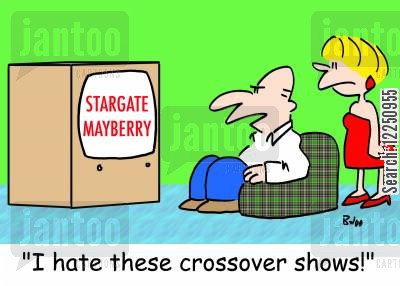 stargate cartoon humor: 'I hate these crossover shows!'