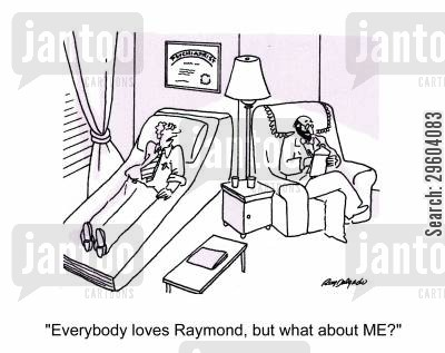 left out cartoon humor: 'Everybody loves Raymond, but what about ME?'