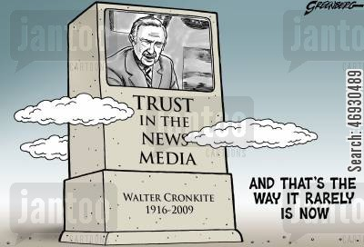 broadcasting cartoon humor: Walter Cronkite.