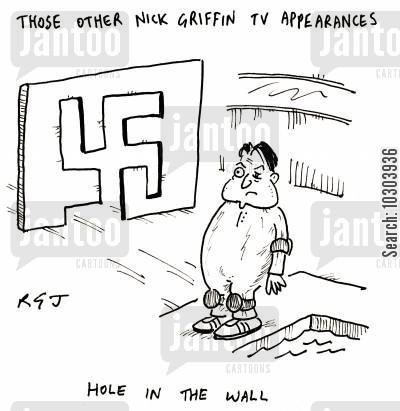 swastika cartoon humor: The Other Nick Griffin TV Appearances.