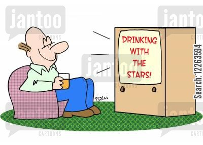 drinking alone cartoon humor: Drinking with the stars.