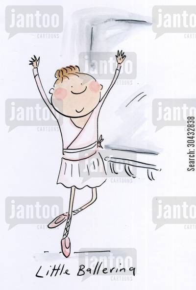 ballerina cartoon humor: Little ballerina.