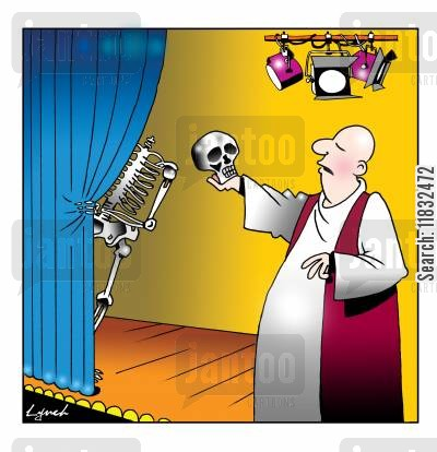 theartre cartoon humor: Alas, poor Yorick!