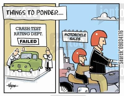 mopeds cartoon humor: Things to Ponder...