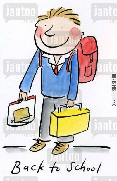 secondary cartoon humor: Back to School.