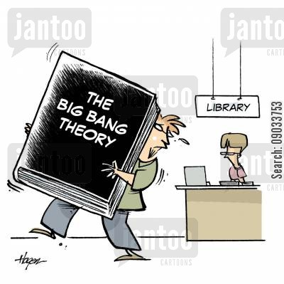 big bang cartoon humor: Big Bang Theory.