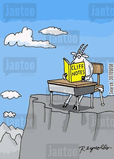 study guides cartoon humor: Cliff Notes