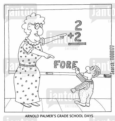 grade school cartoon humor: Arnold Palmer's Grade School Days