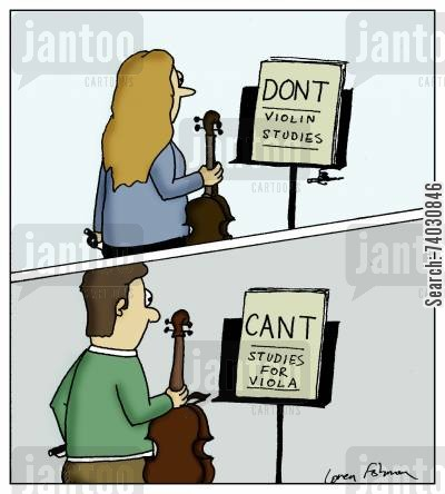 string cartoon humor: Dont Violin Studies'Cant' Studies for Viola