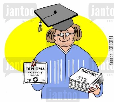 graduate job cartoon humor: The Graduate