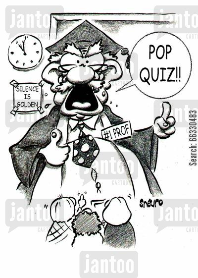 quiz cartoon humor: Pop quiz!