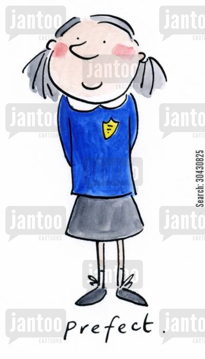 headgirl cartoon humor: Prefect.